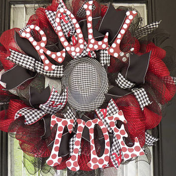 Alabama Football Double Door Wreaths, Double Door Wreaths, Alabama Door Hanger