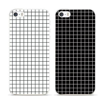DCCKLG2 Black and White   Grid Case for iphone