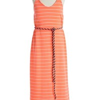 W Girl Racerback Stripe Maxi Dress (Big Girls)