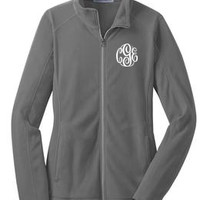 Monogrammed Lightweight Microfleece Jacket | Ladies Jackets | Marley Lilly