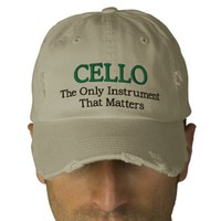 Funny Embroidered Cello Music Hat Embroidered Hats from Zazzle.com