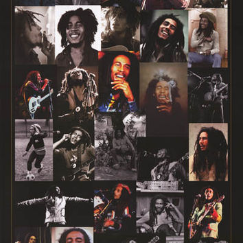 Bob Marley Photo Montage Poster 24x36