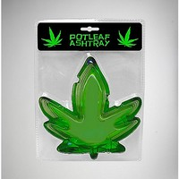 Pot Leaf Ashtray - Glass - Spencer's