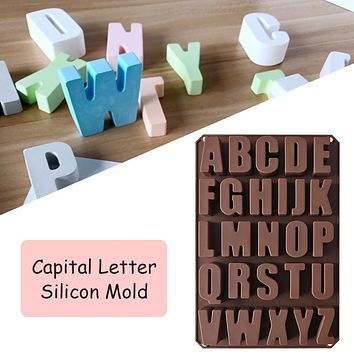 Capital Letters Silicone Mold Chocolate Fondant Cake Decorating Tools Biscuit Moulds DIY Desserts Baking Mold Tools