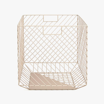 SQUARE METAL BASKET WITH HANDLES - BASKETS - BATHROOM | Zara Home United States of America