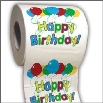 Happy Birthday Toilet Paper