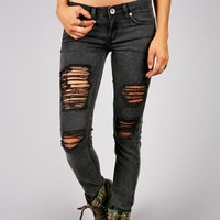 Smoke Slash Skinnys | Trendy Jeans at Pink Ice