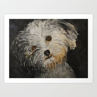 Because Dogs are Cute Art Print by RokinRonda