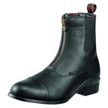 Ariat Mens Heritage III Waterproof Zip Paddock Boots - Black