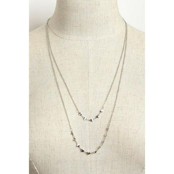 Dainty Heart Double Layered Necklace