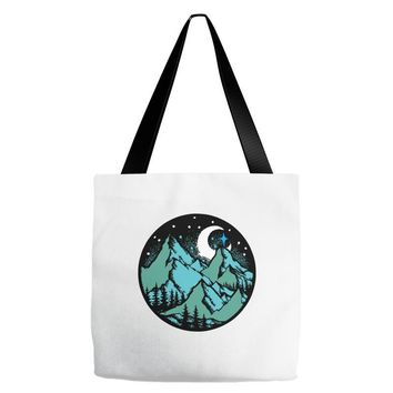 mountains Tote Bags