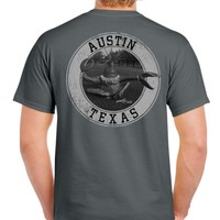 Grey Mike Quinn Crabman Tee - Fish With Attitude by Mike Quinn