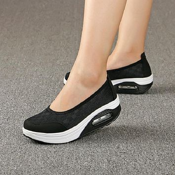 Air Mesh Flats Platform Shoes