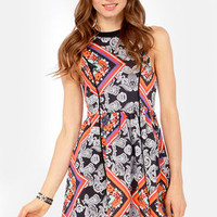 Mink Pink Lay Lady Scarf Print Dress