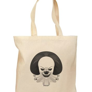 Scary Clown Grayscale Grocery Tote Bag