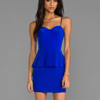 Naven Heartthrob Peplum Dress in Vegas Blue