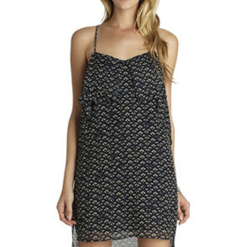Flounce Front Dress in Black - BCBGeneration
