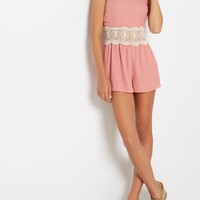 Pink Crochet Medallion Romper | Jumpsuits & Rompers | rue21