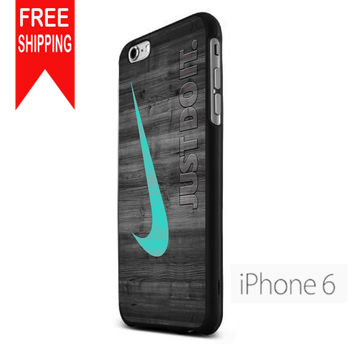 Nike Mint Just Do It Wooden US iPhone 6 Case