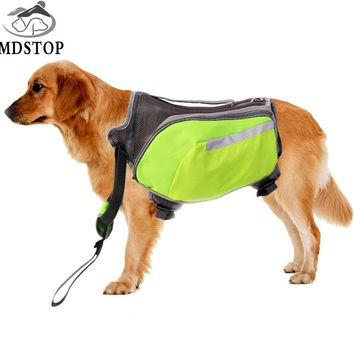 MDSTOP 2017 NEW Green Oxford Dog Saddle Bag Medium Large Big Dogs Backpack for Outdoor Hiking Camping travel Pet Carrier