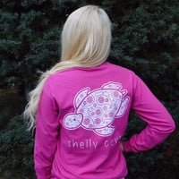 Raspberry Sorbet Paisley Long Sleeve Pocket Tee