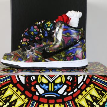 BC HCXX Nike SB X Concepts Dunk High Stained Glass with Special Box 313171-606 or Regular box