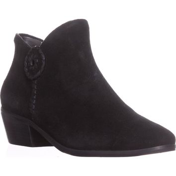 Jack Rogers Peyton Side Zip Ankle Booties, Black, 6.5 US