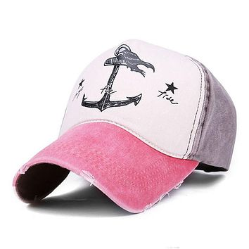 Snapback Casquette Baseball Cap for Women Pirate Anchors Summer Baseball Cap Casual Sunscreen Men Hip Hop Adjustable Hat