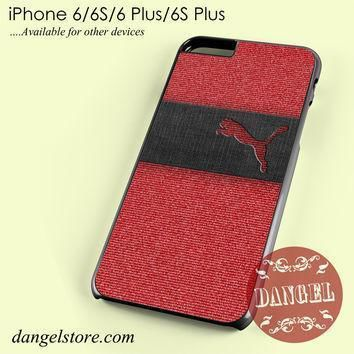 puma red jeans texture phone case for iphone 6 6s 6 plus 6s plus  number 2