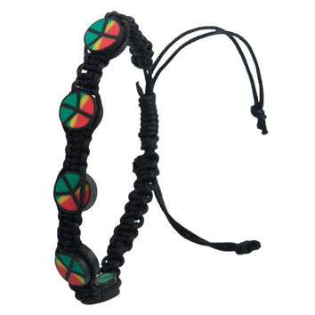 Rasta Peace Repeat Bracelet