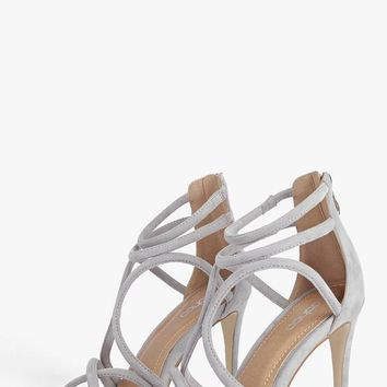 Sophia Cross Strap Caged Stiletto | Boohoo
