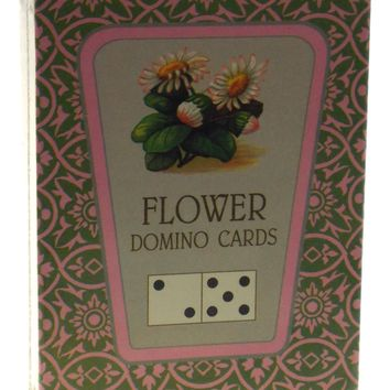FG & Co Flower Domino Cards Victorian Printed USA