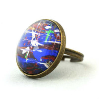 "10% SALE - Ring ""1"" Cooperated with the Featured Artist Ashley Cella. Copper Cute Circle Shape Good for gift"