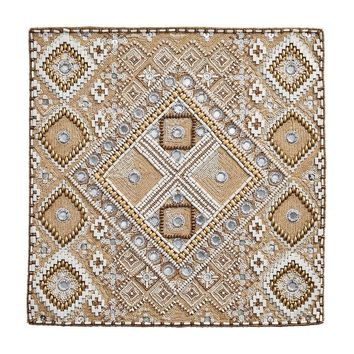 Luxor Placemats S/4 | Natural, Gold+Ivory