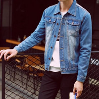 Mens Casual Denim Jacket