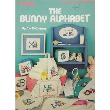 Bunny Alphabet - Counted Cross Stitch Leaflet - Leisure Arts
