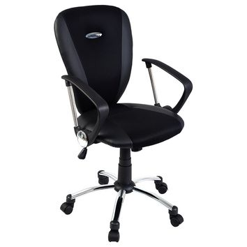 Goplus Modern Ergonomic Computer Task Executive Mid-Back Desk Office Chair Black