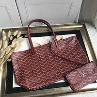 Kuyou Gb69729 Goyard Tote Wine Red Mini Carry Shopper Bag Picture Size 34*45*13 Cm