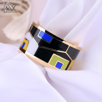 R&X 2016 new exotic emotional appeal The European and American creative chain.scarves buckle high-grade enamel color ring