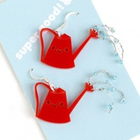 Handmade Gifts | Independent Design | Vintage Goods Happy Watering Can Earrings - Cute Cute Cute!
