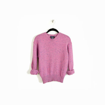 Vintage Irish Wool Sweater in Flecked by twigandspokevintage