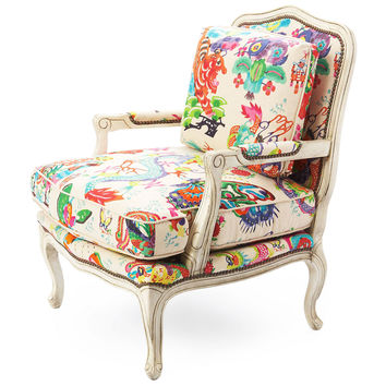 Harper Bergère Chair, Imperial Dragon, Accent & Occasional Chairs