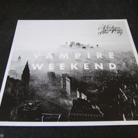 Vampire Weekend Modern Vampires Of The City Promo Poster. New 30 x 30 cms. Rare.