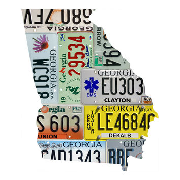 Georgia License Plate wall decal
