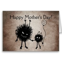 Evil Cartoon Bug Gothic Mother's Day
