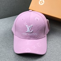 LV x Supreme joint name duck tongue sports cap baseball cap pink
