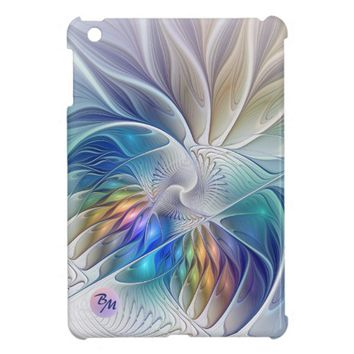 Floral Fantasy, abstract and modern, Monogram Cover For The iPad Mini