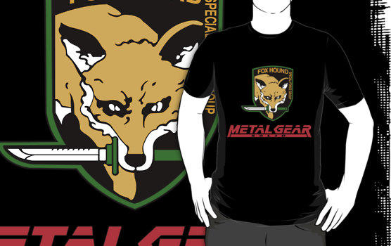METAL GEAR SOLID *FOX HOUND Special Forces Group Gamer black t-shirt