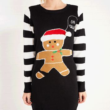 Gingerbread Man Sweater Dress | Wet Seal