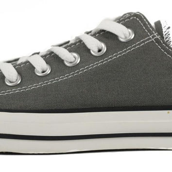 Converse Unisex: Chuck Taylor Lowtop Charcoal Canvas Sneaker